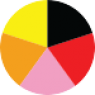 Črna, Rdeča, Pink, Oranžna, Rumena