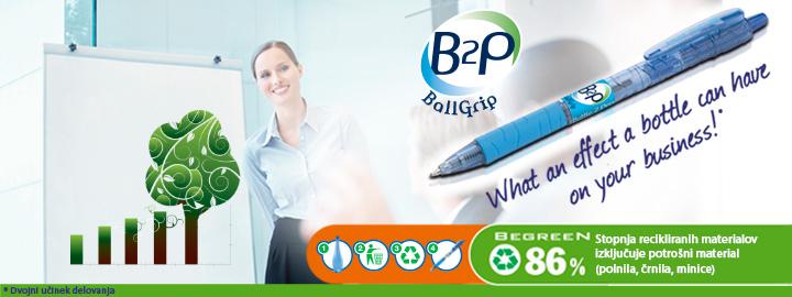 Pilot B2P Ball Grip - Kemijski svinčnik