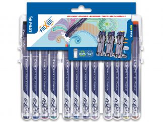 FriXion Fineliner - Evolutive Set of 12 - Sortirane barve - Tanka konica