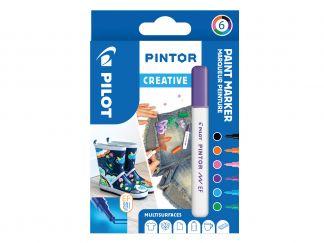 Pilot Pintor - Pakiranje 6 kosov - Ustvarjalne barve - Tanjša konica