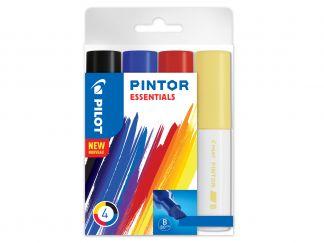 Pilot Pintor - Pakiranje 4 kosov - Sortirane barve - Široka konica