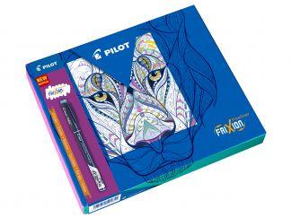 FriXion Fineliner - Colouring Giftbox - Črna, Svetlo modra, Pink, Vijola, Limeta zelena - Tanka konica