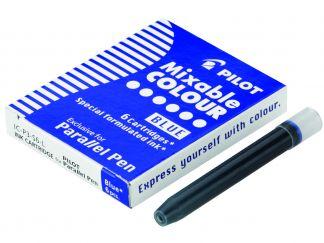 Parallel Pen - Set polnil 6/1 - Modra - Tekoče črnilo