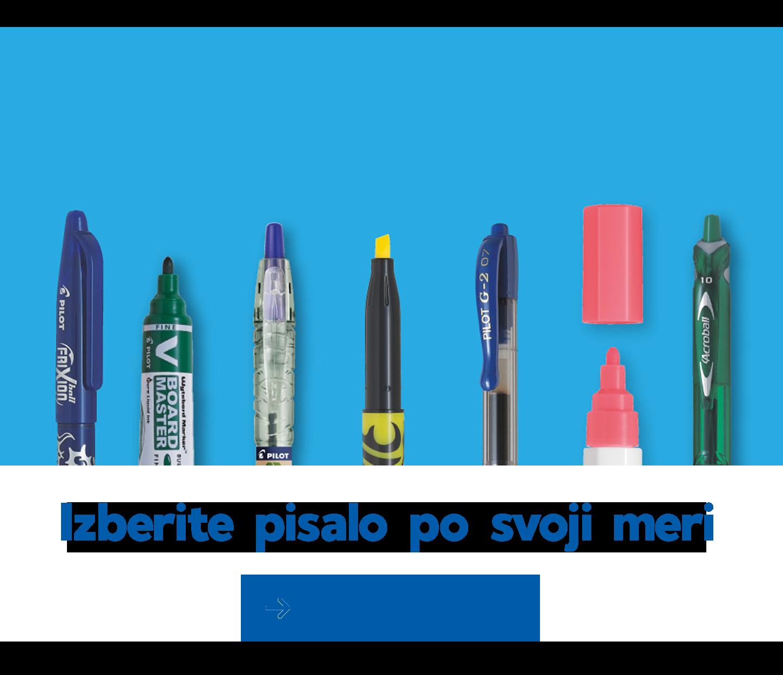 Izberite pisalo po svoji meri